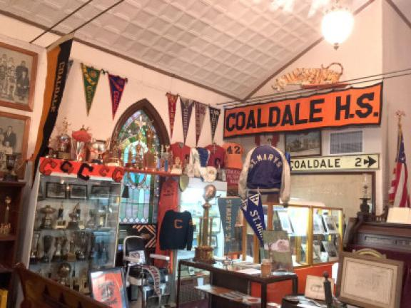 Memorabilia from Coaldale is on display at the Lansford Historical Society. CONTRIBUTED PHOTO