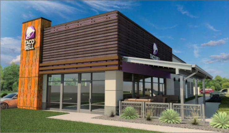 An artist's rendering shows the Taco Bell planned for the site now occupied by Valley Pizza in Walnutport. CONTRIBUTED PHOTO