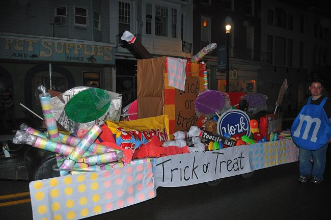 STEVE SHINKO/SPECIAL TO THE TIMES NEWS This float, filled with Trick or Treat goodies, from Climb-A-Lot Clubhouse in Hometown, took Best In Show honors at the 43rd Annual Tamaqua Halloween parade.