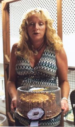 SPECIAL TO THE TIMES NEWS Lisa Buzzard won 1st Place Chocolate Cake and Angel Food Cake and will go on to the Pennsylvania Farm Show chocolate cake competition.