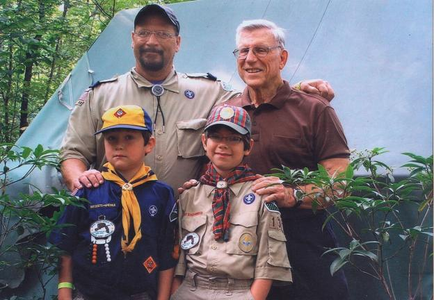 Three generations of Scouts
