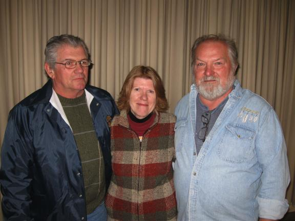 "RICK GRANT/SPECIAL TOT THE TIMES NEWS The three members of the Jim Thorpe Halloween Parade are stepping down after 15 years. They are: Mike Contar, Kathy Lienhard and Kenneth ""Rump"" Hurley."