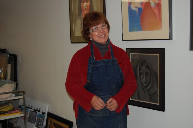 @$:ELSA KERSCHNER/TIMES NEWS Linda Wingo Christman will exhibit her portraits at Stonehedge beginning the day after Thanksgiving.