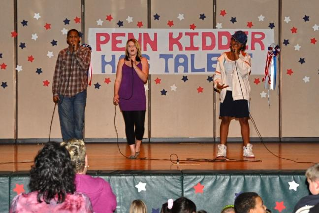 "VICTOR IZZO/SPECIAL TO THE TIMES NEWS Raheem Greene, Alexis Young, and Faith White sang ""Knock You Down"" by Keri Hilson."