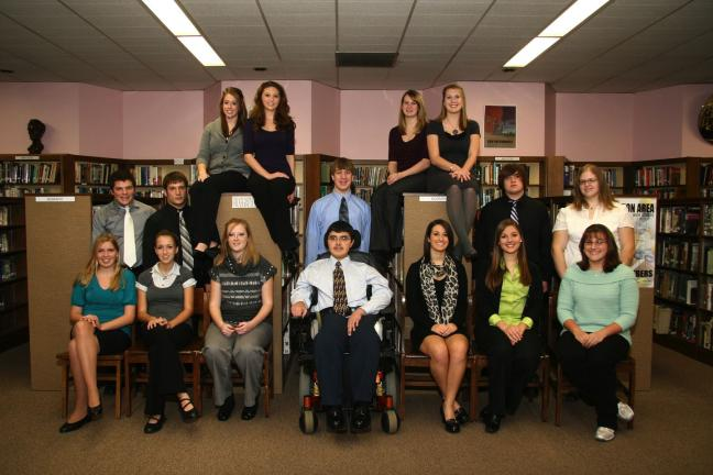 Special to the TIMES NEWS Palmerton Area High School students who were recently inducted in the National Honor Society include (front row, l-r) Elizabeth Hahn, Jillian Farkas, Jordan Ruzicka, Derek Szena, Lyndsey Heinrich, Megan Mummey, Amber…