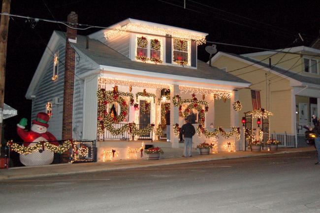 Debbie and Peter Kupres of 435-437 E. Ridge St. won the Holiday Neighbors category in Lansford Alive!'s 2009 Christmas House Decorating contest.