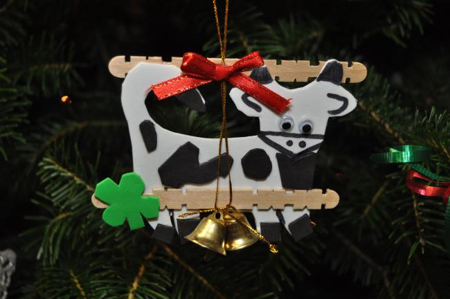 AMY ZUBEK/TIMES NEWS This year's winning ornament was designed by Molly Mertz of Lehighton. This ornament, as well as all other contest entries are currently displayed on the Penn State Cooperative Extension Office's Christmas tree.