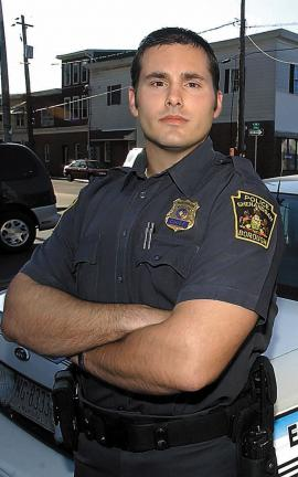REPUBLICAN-HERALD PHOTOS BY JACQUELINE DORMER Shenandoah Police Chief Matthew Nestor