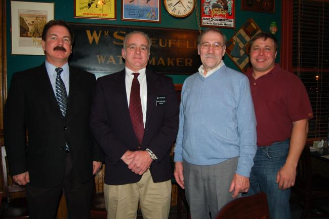 Gail Maholick/TIMES NEWS Carbon Builders Association installed 2010 officers and board members. From left are, Jake Arner of Arner Developments, president; Gene Kreitzer, past president of the Pennsylvania Builders Association and installing officer…