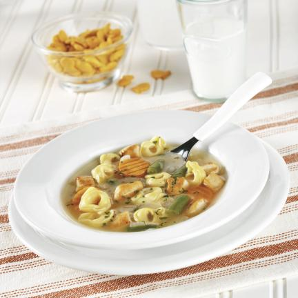 PHOTOS COURTESY OF SWANSON Chicken and Tortellini Soup