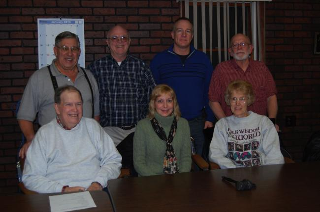 ELSA KERSCHNER/TIMES NEWS Members of the Towamensing Historical Commission and the program presenter are Malcom Campbell; Tom Newman, vice chairman; Karl Rolappe, secretary-treasurer; presenter Roy Chrisman; Curt Beers; Carol Copeland, chairman; and…