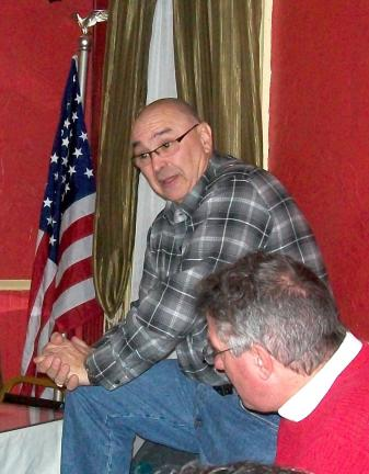 SPECIAL TO THE TIMES NEWS The Palmerton Area Democratic Club's Feb. 9 meeting featured William Ravert, President of the Bowmanstown Borough Council, who answered questions regarding the controversial Transfer Station proposed for the old Prince…