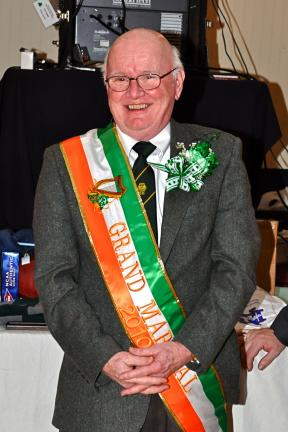 VICTOR IZZO/SPECIAL TO THE TIMES NEWS Receiving the honor of the title of Grand Marshall for the 2010 St. Patrick's Day Parade in Jim Thorpe next Sunday was AOH charter member Hugh Dugan.