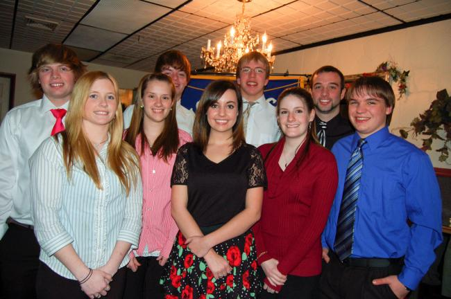 TERRY AHNER/TIMES NEWS Palmerton Area High School seniors honored recently by the Palmerton Exchange Club as Youth of the Month were (front row, l-r) Kathleen Gasper, Madeline Koller, Sarah Dreyer, Jessica Fegley, Frank Jay Hall and (back row, l-r)…