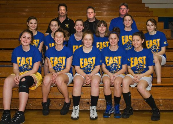 The CYO District 5 Girls All Star Game was held recently at Marian High School in Hometown. Representing this year's East All-Stars are, from left, front row, Elizabeth Kester, Catherine Condly, Shaina Leshko, Emily Sofranko, and Gabrielle Green…
