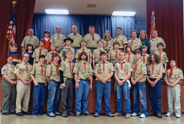 Boy Scouts and Troop officials from Troop 82 are from left, front row, Judy Wingert, Michael Everett, Mason Everett, Nick Kern, Zach Shiner, Justin Wingert, Tyler Helmer, Sean Maloney, Joshua Kern, Sam Blose and Ryan Andrews; middle row, Russell…