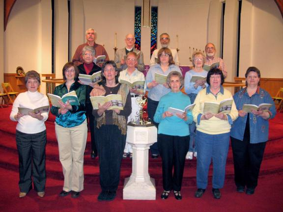 "STACEY SOLT/SPECIAL TO THE TIMES NEWS Members of the Trinity Evangelical Lutheran Church Sanctuary Choir prepare for a performance of the cantata ""The Lenten Sketches."""
