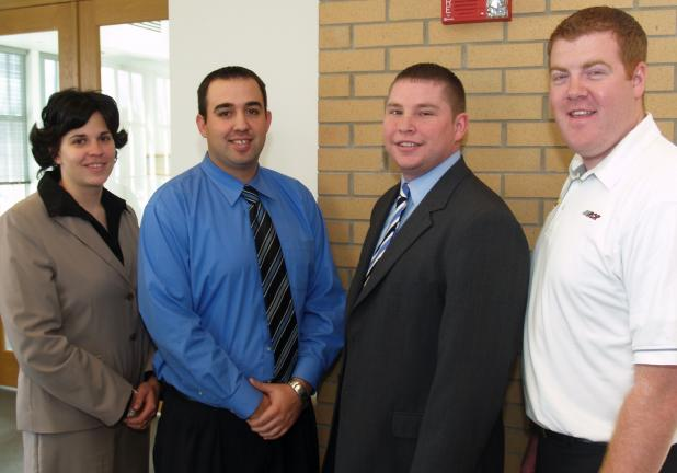 Four prominent graduates of the Misericordia University Sport Management Program were among the presenters at the 10th Annual Sport Management Roundtable held recently at the campus. Shown from left: Kristen Black '04, '08, athletic director,…