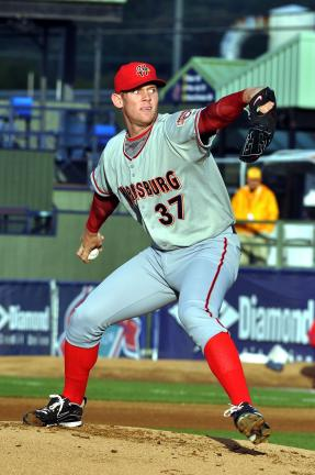 mike feifel/times news Washington Nationals prospect Stephen Strasburg lived up to the hype in Reading on Tuesday night.