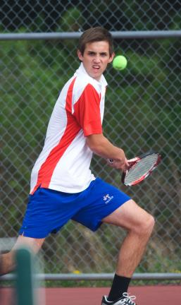 bob ford/times news Sam Lux of Jim Thorpe will be one of the favorites when the District 11 Class AA Singles Tournament gets underway on Friday.
