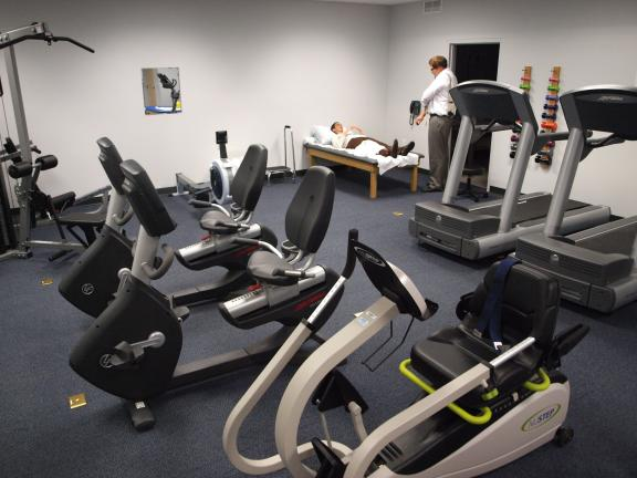 ANDREW LEIBENGUTH/SPECIAL TO THE TIMES NEWS New Sports and Rehabilitation Center at the new St. Luke's Miners Health Center on North Kennedy Drive in McAdoo.
