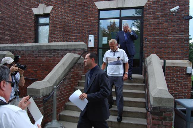 TERRY AHNER/TIMES NEWS FILE PHOTO Former Palmerton School District administrator Gary Dean Snyder leaves the office of District Judge Bruce Appleton of Palmerton, following his preliminary hearing on sexual assault charges held last September. On…