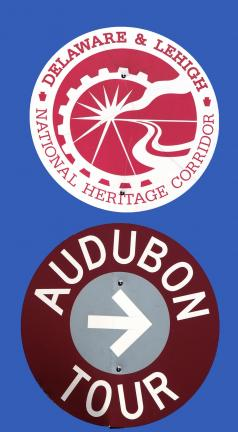 Most stops are marked with maroon Audubon Tour signs, but some are missing or are not easy to find.