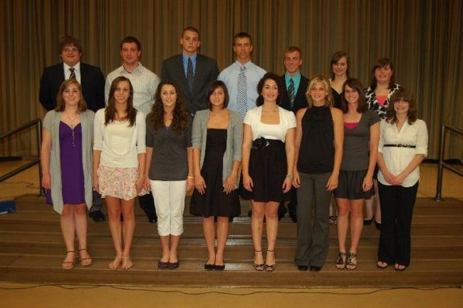 JOE PLASKO/TIMES NEWS Among the students receiving scholarship awards at the 52nd Annual Tamaqua Area Student Achievment Dinner were, front row from left, Megan Amey, Alexandra Kurek, Elissa Streisel, Shelby Hankins, Katelyn Ciccozzi, Samantha…