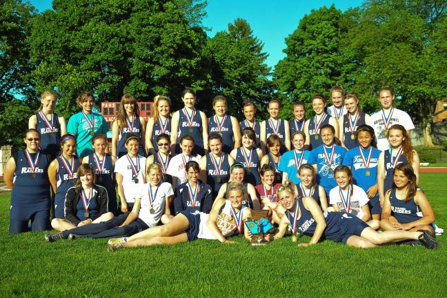 steve shinko/special to the times news @Caption Stand Alone:Tamaqua girls win Schuylkill track crown The Tamaqua Raiders girls track team pose with their trophy after capturing the Schuylkill League championship on May 5 at Pottsville. Tamaqua, the…
