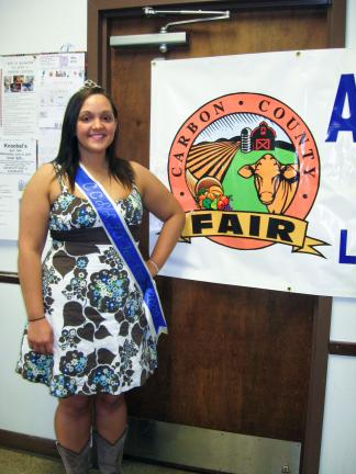 STACEY SOLT/SPECIAL TO THE TIMES NEWS As 2009-2010 Fair Queen Kristy Rodgers prepares to end her reign, she is encouraging young women between the ages of 16 and 20 to apply for the Fair Queen program.