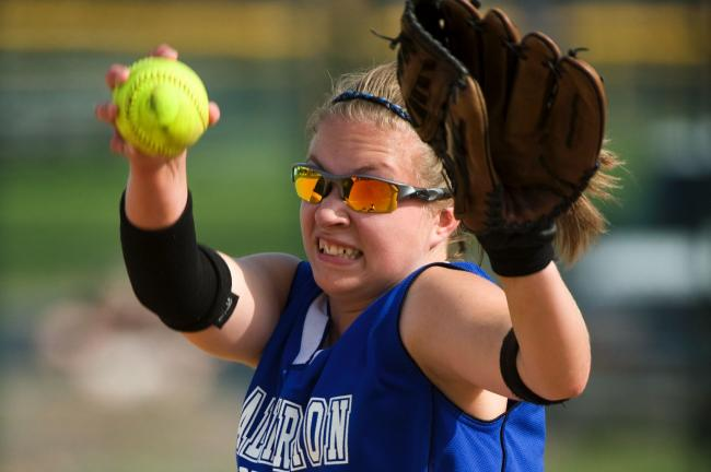 Palmerton's Martina Herring gets set to deliver a pitch in Thursday's 4-2 win ov