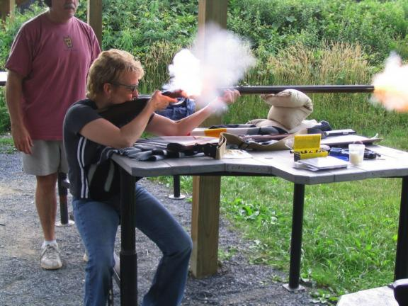 Special to the TIMES NEWS Learning how to properly and safely shoot firearms is one of the many outdoors-related activities women can experience during the National Wild Turkey Federation's Women in the Outdoors event at Ontelaunee Rod & Gun Club on…