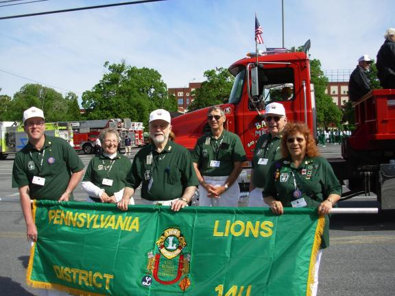 ADELE R ARGOT/SPECIAL TO THE TIMES NEWS Lions from 14U, including from left, Scott Dudley, Judy Dudley, Bob Argot, Paul Barth, Ed Dudley and Angie Mims, marched in the combination Lions and Veterans parade in Reading. Wonderful weather made for a…