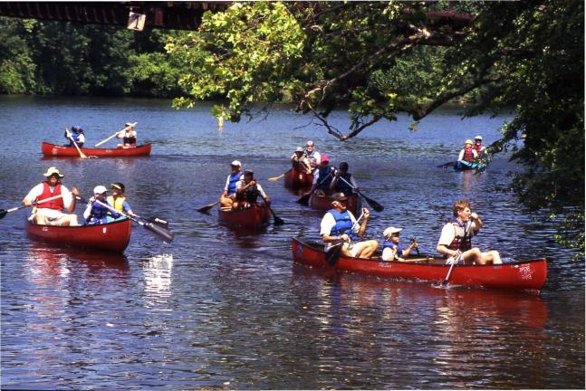 AL ZAGOFSKY/SPECIAL TO THE TIMES NEWS After a Saturday on whitewater, the Lehigh Sojourn turns to canoes and kayaks, traveling the meandering sections of the Lehigh River. The 2010 Lehigh River Sojourn runs from June 25-28. Registration information…