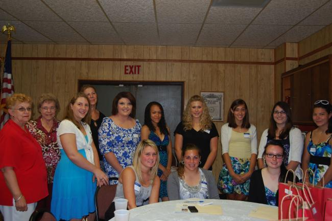 Present at the tea were Ruth Porter, Girls State Council chairman; LaRue Fritz, state chairman of Unit 14; Pat Clemens, senior counselor; Tanya De Cindio, Tamaqua High School; Chey Davis, Lehighton High School; Cheyenne McLaughlin of East…