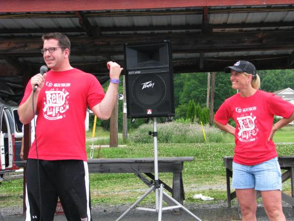 LIZ PINKEY/SPECIAL TO THE TIMES NEWS Tamaqua Relay for Life Chairman Eric Lech and co-chairwoman Diane O'Donnell announce that the 2010 event has raised $85,771.25, just about $5,000 short of the $91,000 goal. Fundraisers for this year's event will…