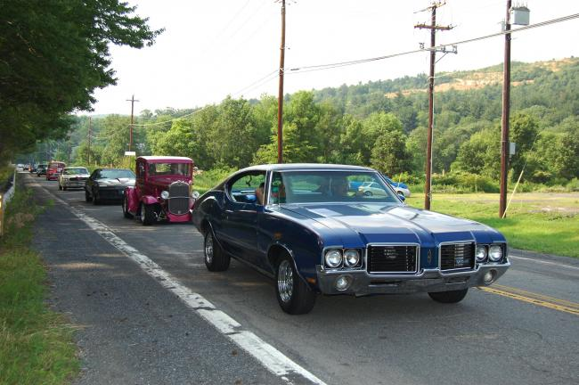 ELSA KERSCHNER/TIMES NEWS Cruisin' down the byroads of Carbon and Monroe counties, the Pacemakers' cruise returns to Blue Mountain Ski Area.