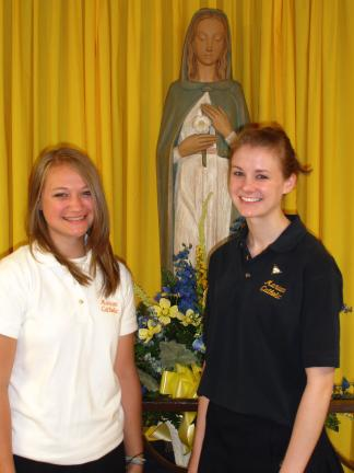 Samantha Faust (left) and Tory Vadyak of Marian Catholic High School will compete on the national level of Future Business Leaders of America (FBLA) this month. SPECIAL TO THE TIMES NEWS
