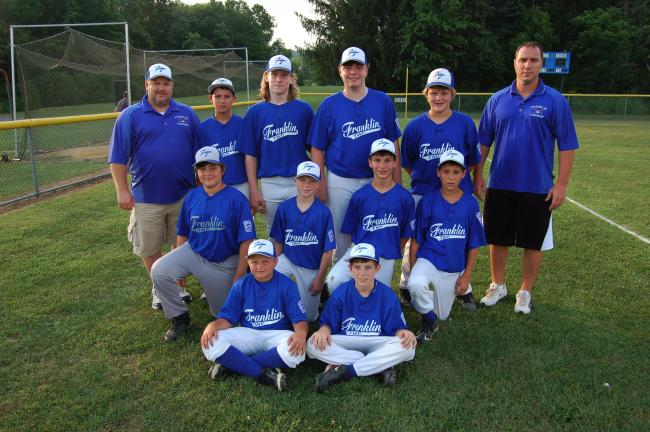 JOE PLASKO/TIMES NEWS @Caption Stand Alone:Franklin Township Little League All-Stars Members of the Franklin Township All-Stars in this year's Panther Valley Little League 11-12 year-old tournament include, front from left, Brady Niehoff and Dante…