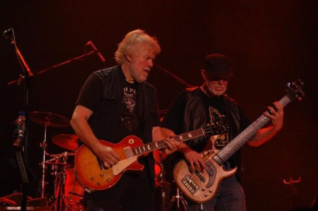 "JOE PLASKO/TIMES NEWS Randy Bachman (left) and C.F. ""Fred"" Turner brought their reunion tour to Penn's Peak Thursday night for an evening filled with Bachman-Turner Overdrive hits plus some new songs."