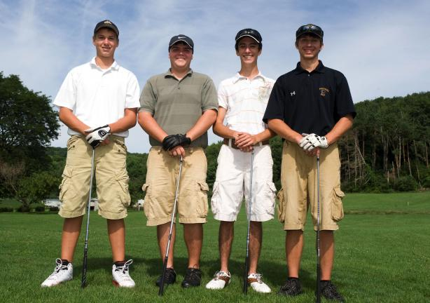 BOB FORD/TIMES NEWS Mike Hadesty, Robert Knipper, Matthew Tucker and Steve Nevenglosky hope to give the Panther Valley golf team a big lift this season.