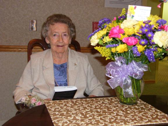 Carol Zickler/SPECIAL TO THE TIMES NEWS Mary Reiter recently celebrated her 100th birthday.