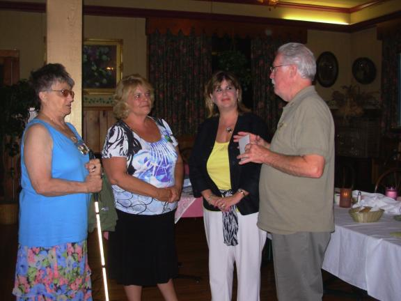 ADELE R. ARGOT/SPECIAL TO THE TIMES NEWS Lions District 14U Governor Bob Kelsey, right, installs the Western Pocono Lions Club's newest member Cindy Rodenbough, second from right, as club president Helen Koshensky, left and Rodenbough's sponsor, Pat…