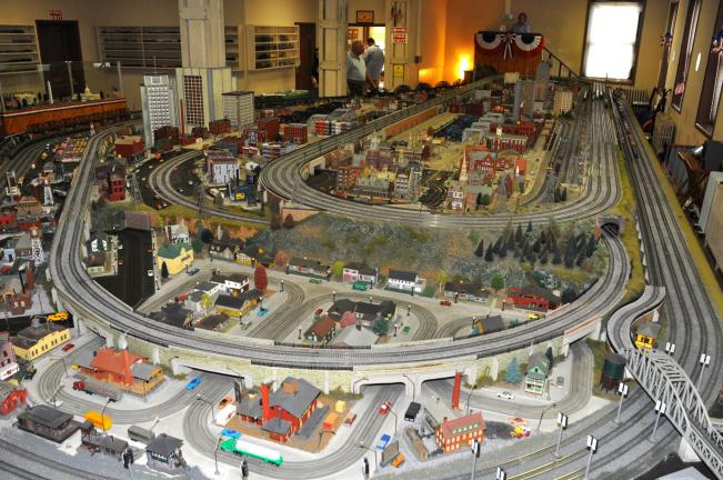 VICTOR IZZO/SPECIAL TO THE TIMES NEWS The HO train display of the Old Mauch Chunk Model Train Display in Jim Thorpe measures 47 x 22 feet with 13 separate mainlines measuring 1,087 feet of track with some engines pulling as many as 50 railroad cars.