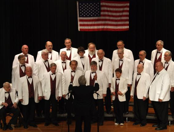 "ANDREW LEIBENGUTH/SPECIAL TO THE TIMES NEWS The Coalcracker Chorus presented its ""Barbershop Harmony Society"" 60th Annual Harmony Extravaganza on Sunday at the Tamaqua Area School District Auditorium."