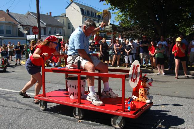 Gail Maholick/TIMES NEWS Come join the fun at the Weissport Redneck Festival this weekend in Weissport. Participants can take part in the Chariot Race and win prizes.
