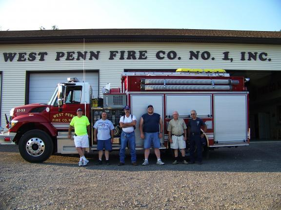 The West Penn Fire Company No. 1 (with several members pictured above), along with Penn Mahoning Ambulance, will benefit from the West Penn Lions Club chicken barbecue on Saturday, Sept. 11. SPECIAL TO THE TIMES NEWS