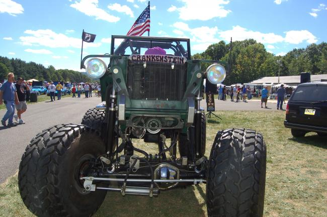 "TERRY AHNER/TIMES NEWS ""Crankenstein"" won the Most Drastically Altered award at the 22nd annual Antique/Collector Car Show sponsored by the Slatington Lions Club on Sunday. The 1951 Willys Truck is owned by Fred Savarese of Lehighton."
