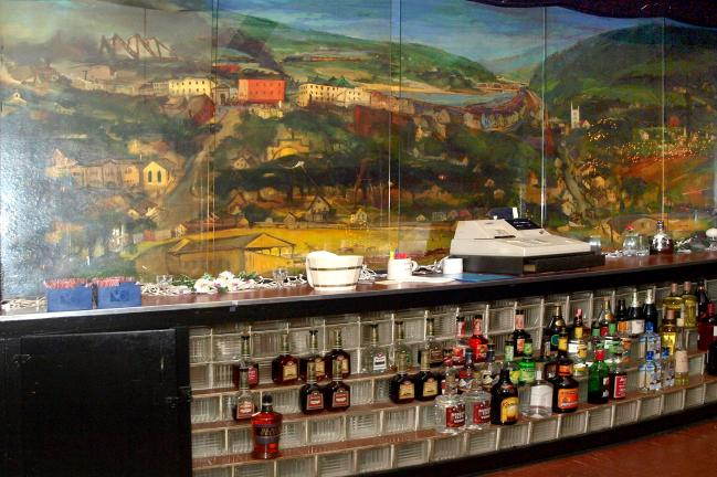 "The most ambitious of Franz Kline's paintings in Carbon County is the mural, ""Lehighton,"" painted in 1946, located behind the bar at American Legion Post 314 in Lehighton."