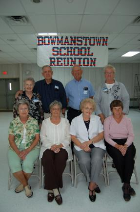 Gail Maholick/TIMES NEWS Members of the Bowmanstown School reunion committee are, front row, Doris Swolensky, Barbara Meinhart, Marlene Shupp and Carole Parsons. Back, Beth Rehrig, Lawrence Rehrig, Laird Swantz and Shirley Sickels.